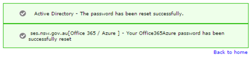 Password reset successfully screen shot