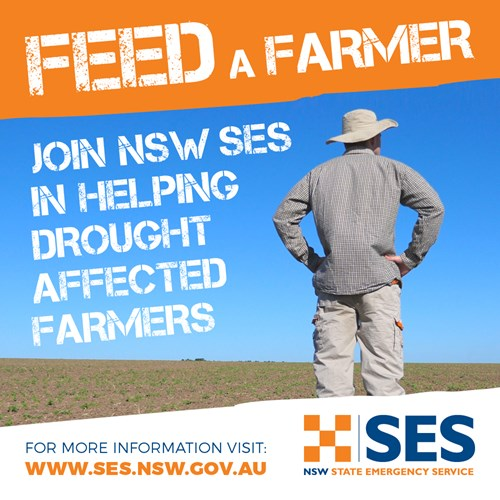 Join NSW SES in heaping drought affected farmers.