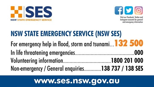 NSW SES Numbers