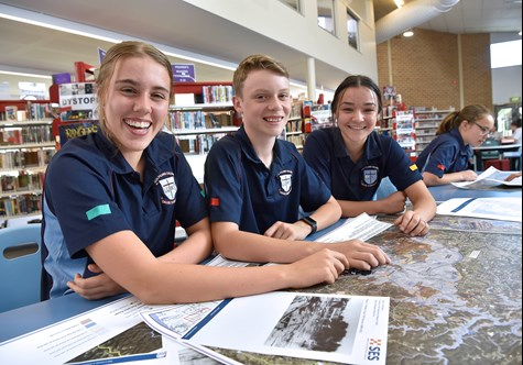 Students working on new school programs hosted on the NSW SES website